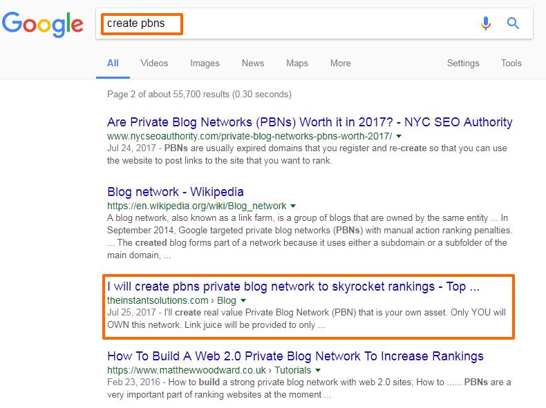 Google rankings - create-pbns