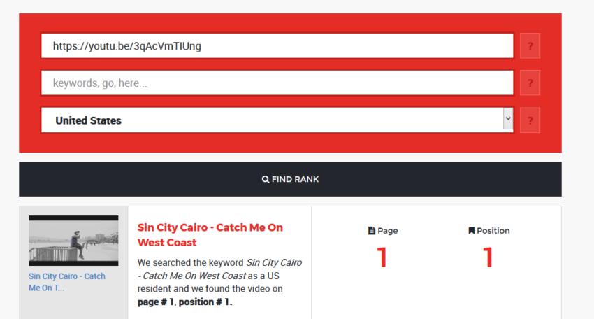 Sin City Cairo - Catch Me On West Coast