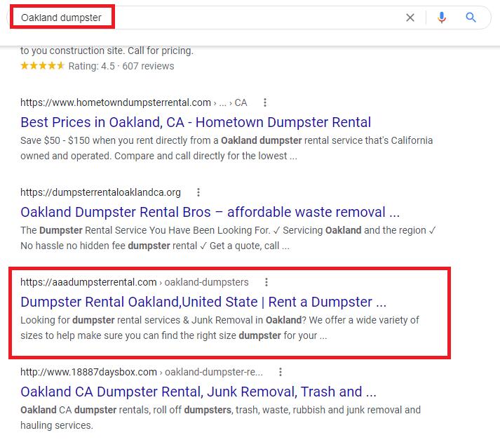 Oakland dumpster